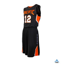 sublimation printing custom basketball jersey and short design
