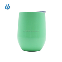 Factory directly price bpa free high quality 18/8 stainless steel stemless wine glass with metal stem