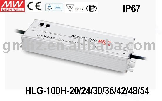 100W HLG-100H MEANWELL/LED POWER SUPPLY/CE UL EMC