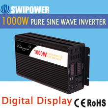 1000Wpure sine wave solar power inverter DC 12V to AC 220V digital display