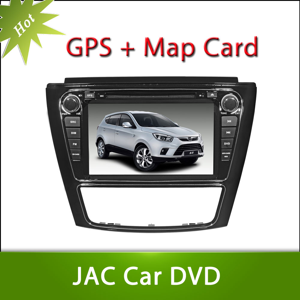 Hot 8inch JAC S5 Car DVD GPS Player Car Stereo Navigation Radio Audio Bluetooth A2DP Steering Wheel Control