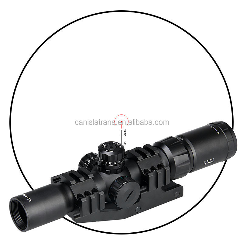 CL1-0246B Compact tactical military optic riflescope 1.5-4X30 Optical rifle scope for hunting airsoft