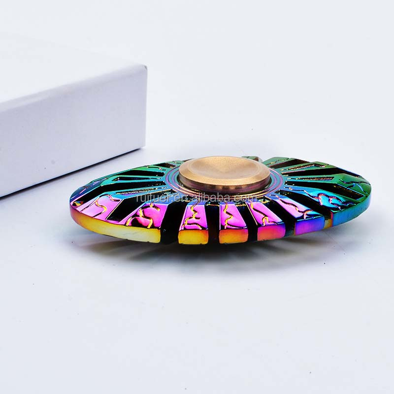 Factory Wholesale Rainbow Multicolor Fish Alloy EDC Fidget Metal Hand Spinner