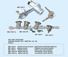 Ignition Starter Switch for Nissan SUNNY B11 SENTRA KEY SET 5 PCS / SET