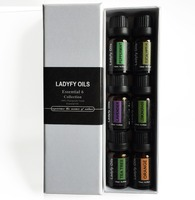 100% Pure Grade Basic Sampler Essential Oil Gift Set,essential oil , pure essential oil- 6/10ML--826086