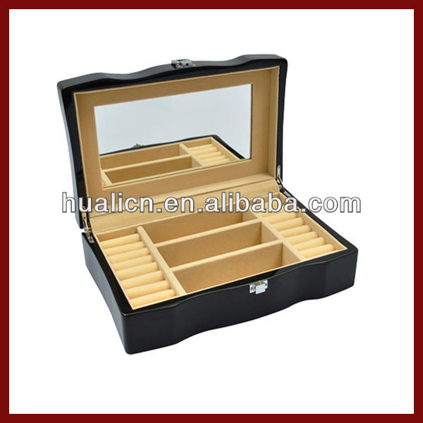 Luxury Wooden Mirror Glass Jewelry Box Wholesale