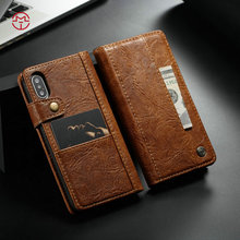 CaseMe 2017 Luxury Wallet For iPhone X Case, Custom Leather For iPhone Case,Handmade For iPhone 8 Flip Leather cover