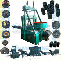 Factory direct sell honeycomb cylinder coal briquette press machine with best quality
