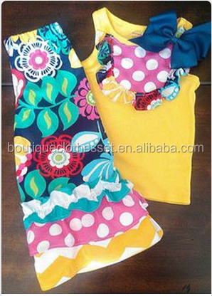 Wholesale preorder toddler girls outfits for boutique little girls easter clothing sets for baby girls persnickety party wear