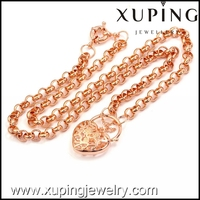 40323 Xuping Rose Gold Color heart necklace Diffuser fashion necklace for women