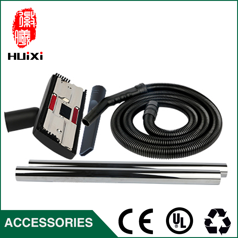 Black watering soaker Hose + Straight hose pipe+Floor brush+ nozzle for Industrial Vacuum Cleaner parts