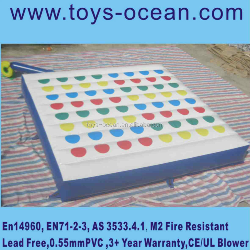 fitness body twister for lose weight, inflatable twister game for adults, rubber running track mat