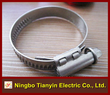 non perforated band high torque worm drive tube fastener