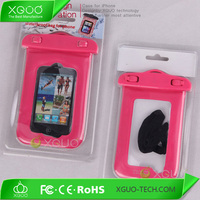 Wholesale PVC phone waterproof case for iphone 4, mobile phone diving bag