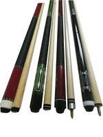 Best selling 1/2 jointed white wood pool cue sticks 57inch billiard ques