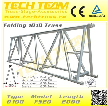 Stadium Design Need Aluminum Folding Truss Roof Tower Truss