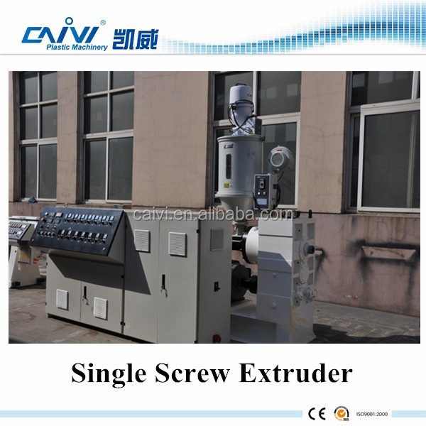 Steady Plastic Automatic Single Screw Extruder For Pipes in China