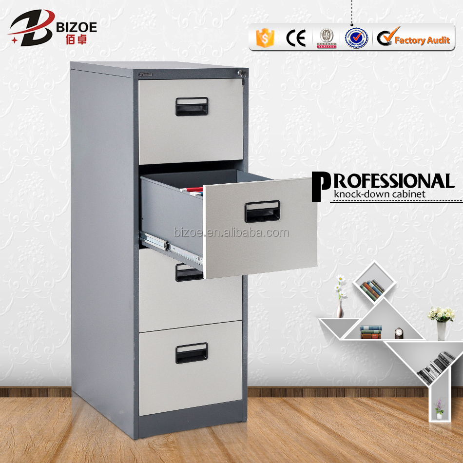 High Gloss Factory Price 4 drawers lockable second hand metal filing cabinet with FC folder