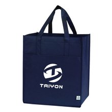 Brand Logo For promotion Solid Color shopper tote Reusable pp non woven shopping bag