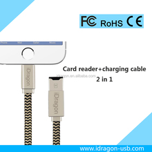 sd card reader extension cable to usb cable for iPhone computer support tf Card