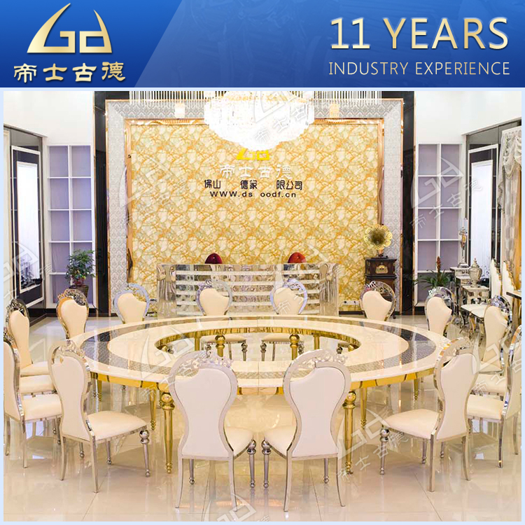 Hotel hall furniture cheap used round banquet tables for sale