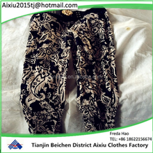 2016 lowest price used lady cotton pants second hand clothing