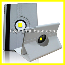 cute white Case For Apple iPad 5 Air 360 Degree Rotating PU Leather Cover Stand