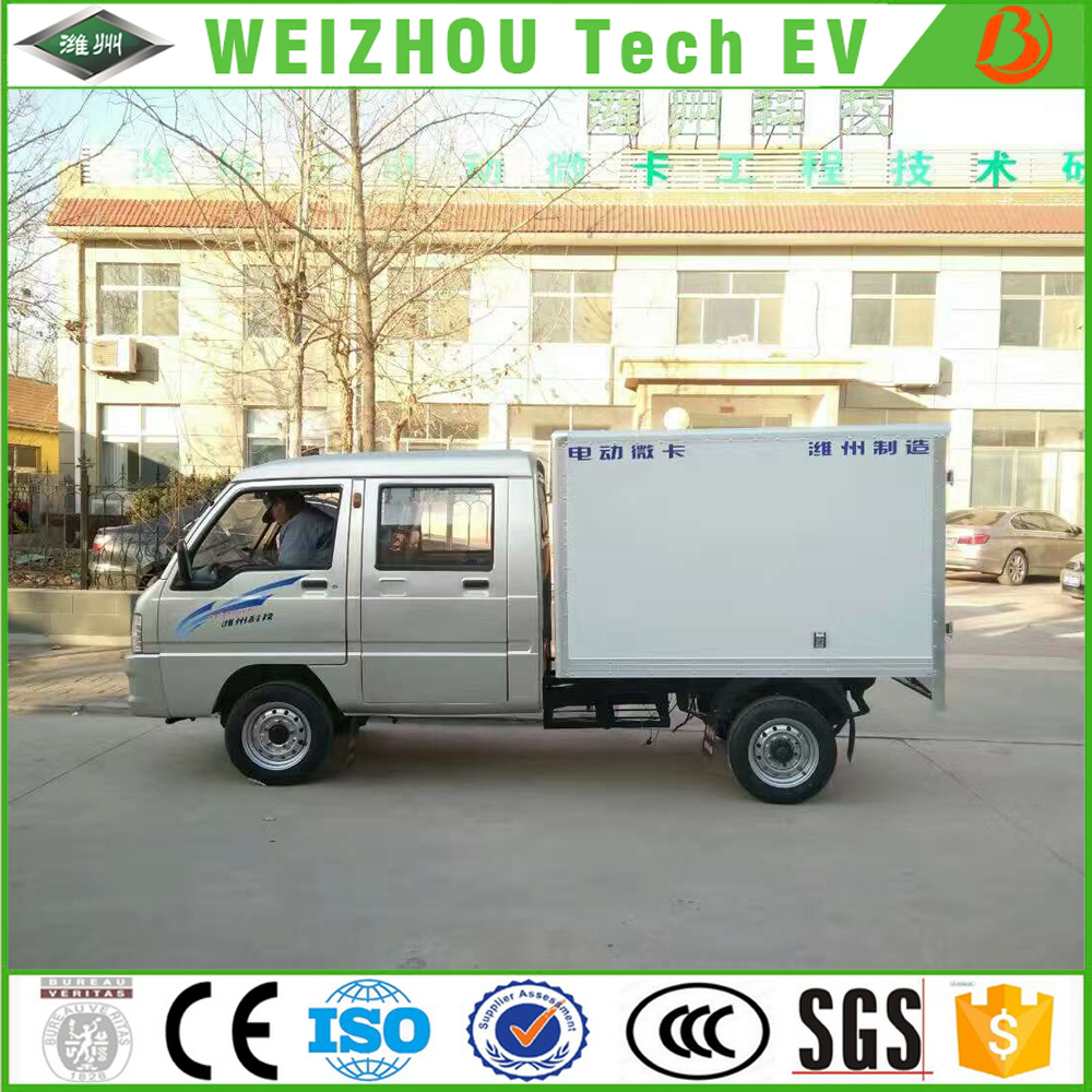 Small Electric Courier Truck / electric c argo van With 5 Seats