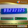 numeric Display Function and 1.38 inch 8 Eight digits 7 segments Blue LED numeric display