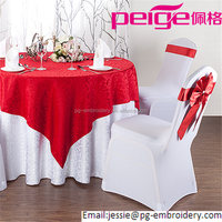 wholesale elegant hotel satin round wedding table cover/Adhesive Table Cloth