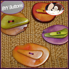 Colorful corozo nut wooden shirt shank buttons bulk