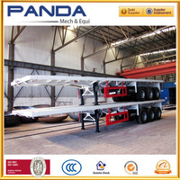3 axle 40feet 12500mm flatbed container semi trailer, trailer container, container lorry