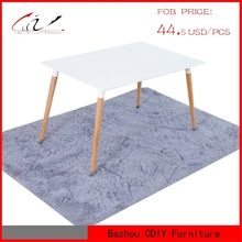 MDF Top Wood Legs Dining Table