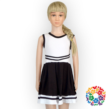 Baby Girl Summer White And Black Dress Baby Girl Party Sleeveless Dresses In Bangalore New Model Girl Cotton Dress 2016