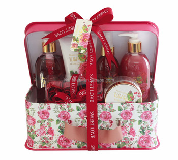 Mother's day valentine's day bath gift set shower gel bubble bath body lotion