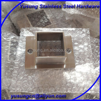 Stainless Steel Handrail Oblong Square Base Plate
