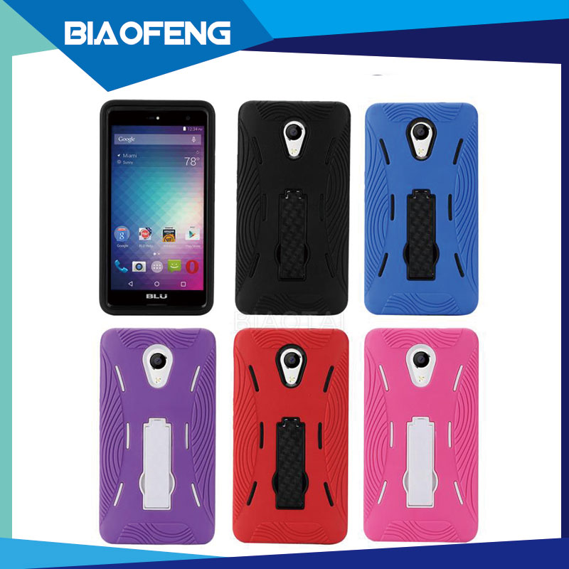 Rugged shock proof tpu pc combo back cover case 5.5 inch android mobile phone case for blu advance 5.5