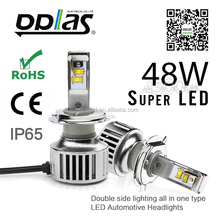 wholesale high power auto headlight h4 car led lights auto bulb super bright led headlights for cars h4 led lights
