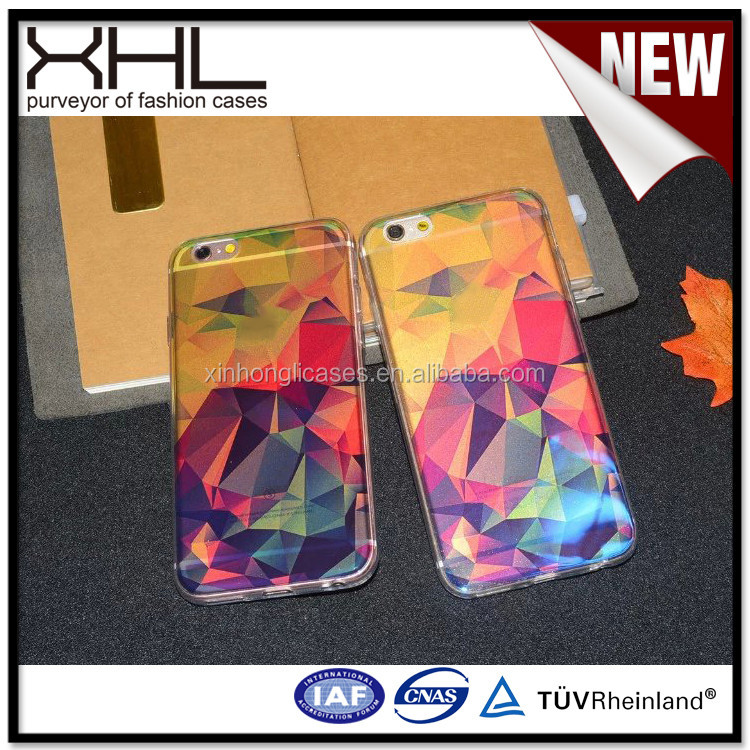 New creative powder semi - transparent blue soft rubber shell for iphone 6s plus tpu case