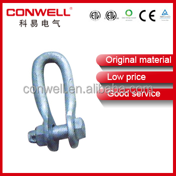 Conwell factory supply Galvanized D shape stainless steel shackle