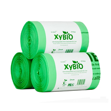 wholesale biodegradable compostable plastic trash bag on roll