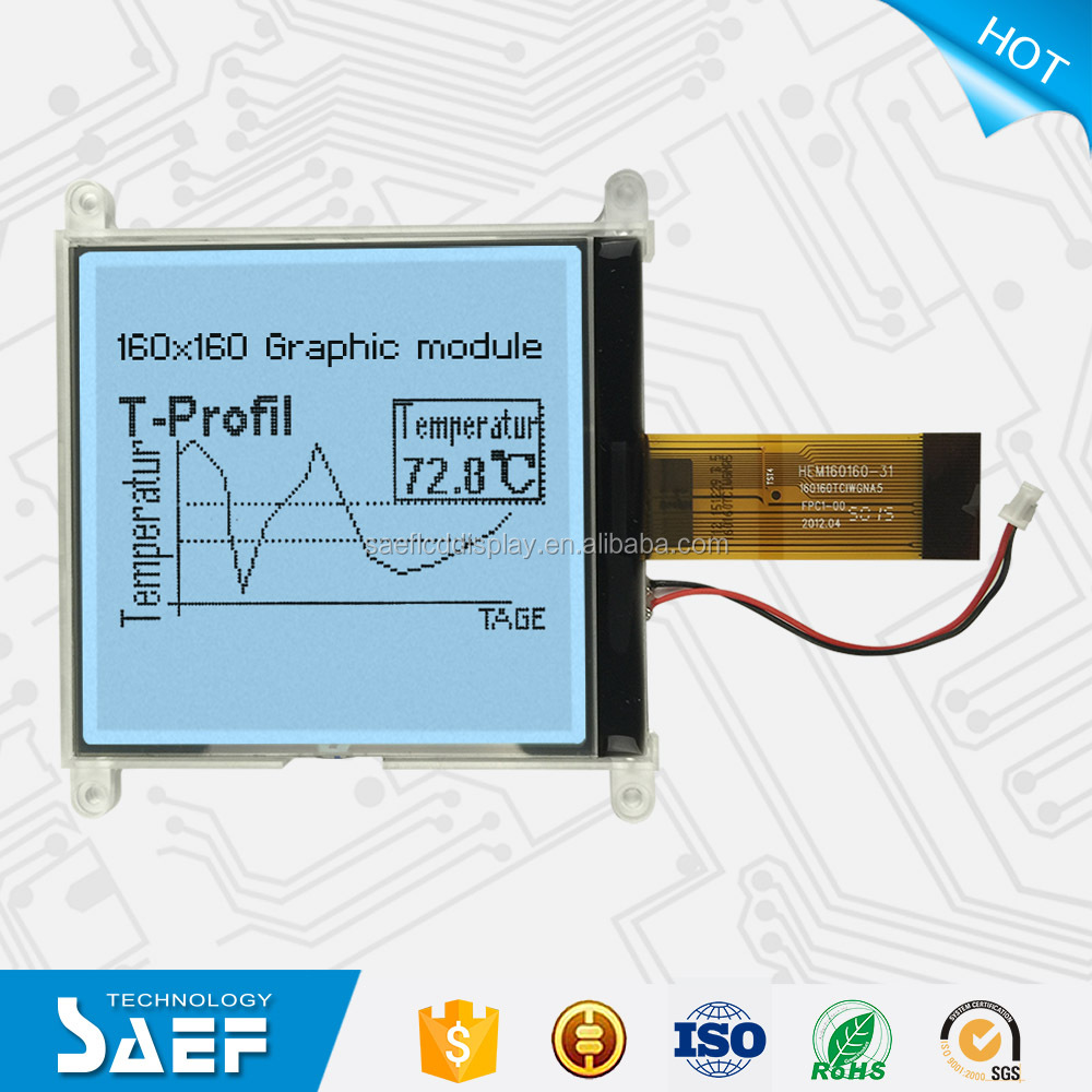 Customized 160x160 monochrome lcd display module for POS & Printers