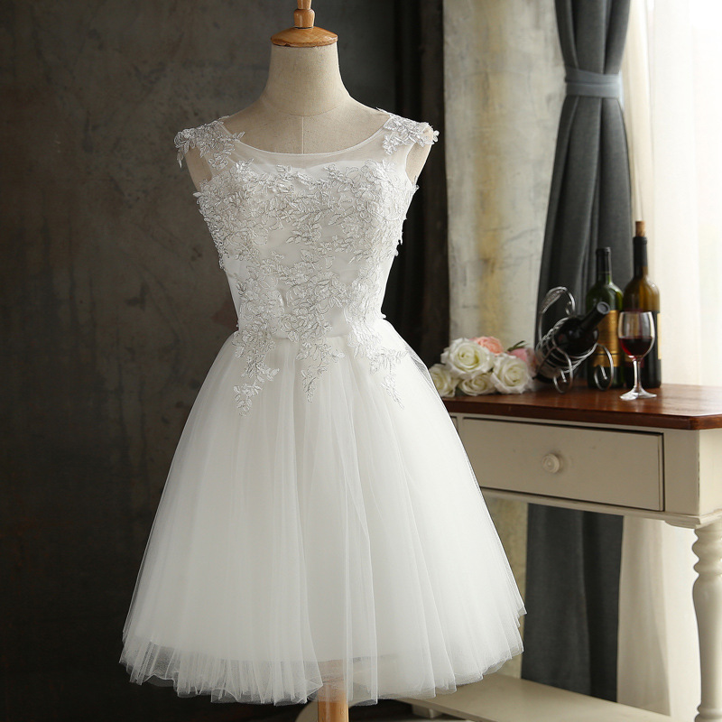 JS 24 Low Moq Cheap Price Traditional Wedding Knee-Length Bridesmaid Dress 037