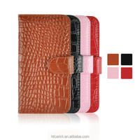 Fashionable design phone case for iphone 6/crocodile pu leather flip case for iPhone 6 6 plus
