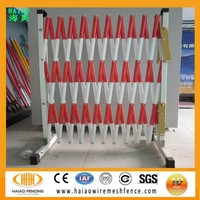 Factory direct sale expandable barrier,foldable temporary barrier for power plant