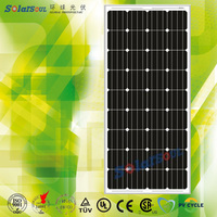 High efficiency small size monocrystalline solar panel 140w bases para paneles solares house with TUV.UL and Product insurance
