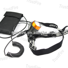 TrustFire manufacturer 3868-H6 rechargeable miner headlamp 400lm cree xml t6 cree led head light