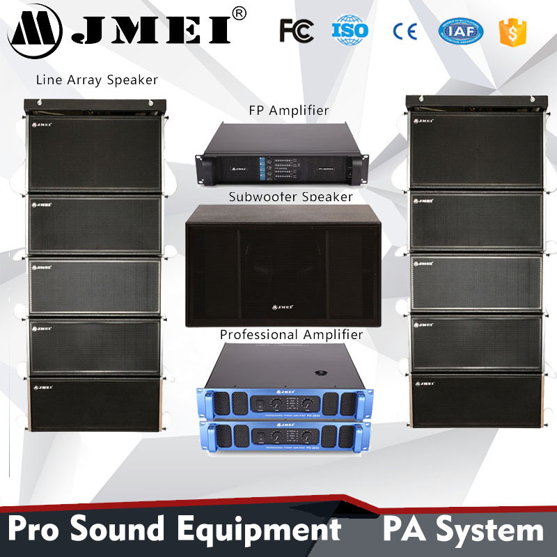 live big subwoofer box portable jmei audio loudspeaker professional sound system outdoor stage equipment dj line array speake