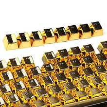 PBT mechanical Golden Keycaps for cherry switch keyboard 104 keyboard Cap