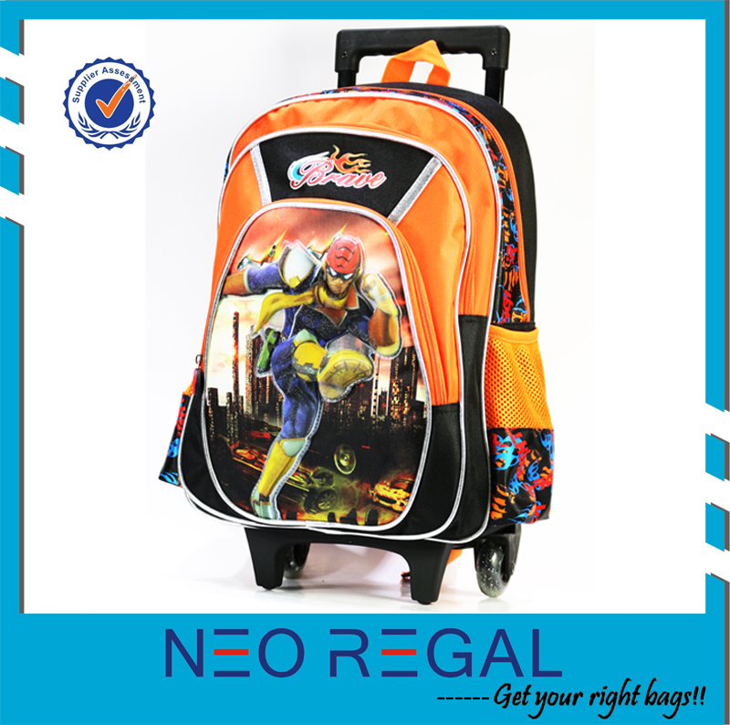 Kids School Rolling Backpack with Wheels, Trolley School Bag for Boys